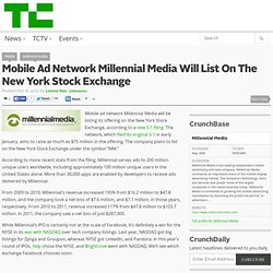Mobile Ad Network Millennial Media Will List On The New York Stock Exchange