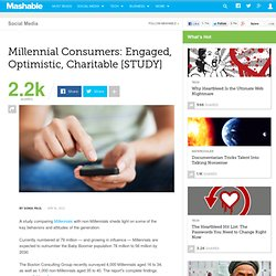 Millennial Consumers: Engaged, Optimistic, Charitable [STUDY]