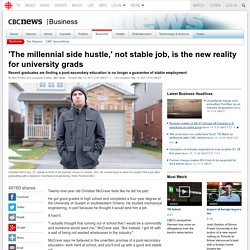 'The millennial side hustle,' not stable job, is the new reality for university grads