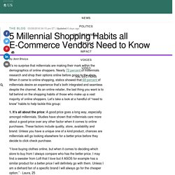 5 Millennial Shopping Habits all E-Commerce Vendors Need to Know