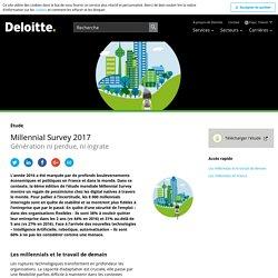 Millennial survey 2017