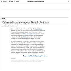 Millennials and the Age of Tumblr Activism