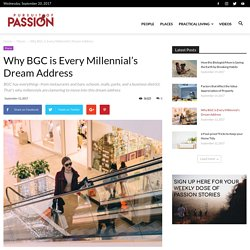 BGC is the millennials' dream address because it's complete as it is