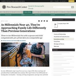 How Millennials Approach Family Life