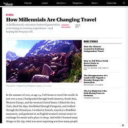 How Millennials Are Changing Travel
