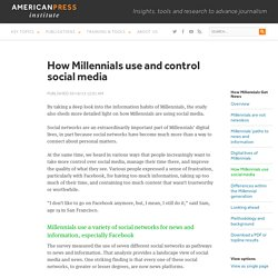 How Millennials use and control social media