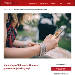 Marketing to Millennials: How can government join the party?