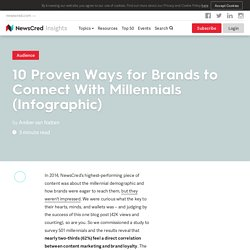 10 Proven Ways for Brands to Connect With Millennials (Infographic)