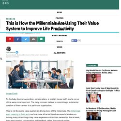 This is How the Millennials Are Using Their Value System to Improve Life Productivity