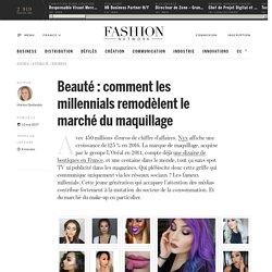 Beauté : comment les millennials remodèlent le marché du maquillage - Actualité : business (#824176)