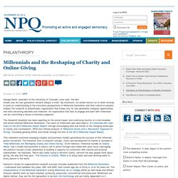 Millennials and the Reshaping of Charity and Online Giving
