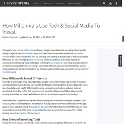 How Millennials Use Tech & Social Media To Invest