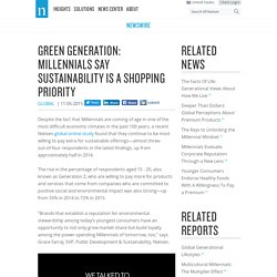 Green Generation: Millennials Say Sustainability Is a Shopping Priority