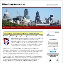 Millennium City Academy | Business, Computing and English Language Courses in London