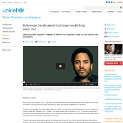 Millennium Development Goal target on drinking water met