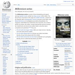 Millennium series - Wikipedia, the free encyclopedia
