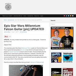 Epic Star Wars Millennium Falcon Guitar