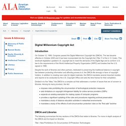 DMCA: The Digital Millennium Copyright Act