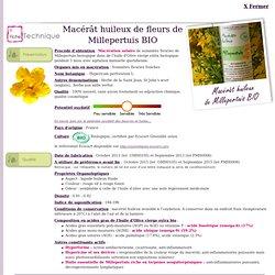 Fiche technique macérât huileux de Millepertuis BIO - Hypericum perforatum L.