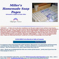 Miller's Homemade Soap Page
