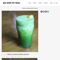 Fresh Lemon Green Shake