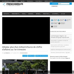 Alibaba: plus d'un milliard d'euros de chiffre d'affaires au 1er trimestre