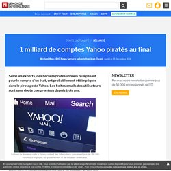 1 milliard de comptes Yahoo piratés au final