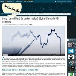 Sony : un milliard de pertes malgré 22,3 millions de PS4 vendues