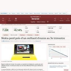 Nokia perd près d'un milliard d'euros au 3e trimestre