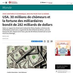 USA. 30 millions de chômeurs et la fortune des milliardaires bondit de 282 milliards de dollars