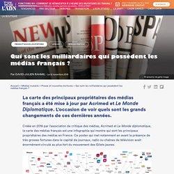 La carte des milliardaires qui possèdent les médias français