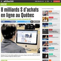 8 milliards $ d'achats en ligne au Québec