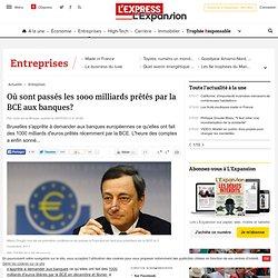 Où sont passés les 1000 milliards prêtés par la BCE aux banques?