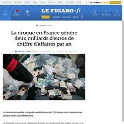 La drogue en France génère deux milliards d'euros de chiffre d'affaires par an