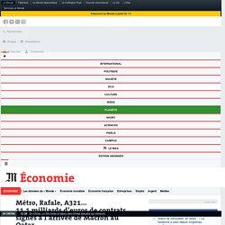 Métro, Rafale, A321... 11,1milliards d'euros de contrats signés à l'arrivée de Macron au Qatar