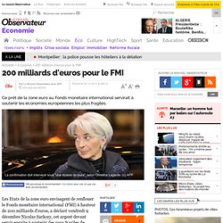 200 milliards d'euros pour le FMI - Economie
