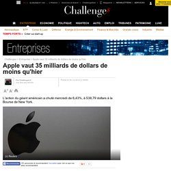 Apple vaut 35 milliards de dollars de moins qu'hier - 6 décembre 2012