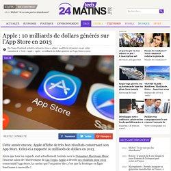 Apple : 10 milliards de dollars générés sur l'App Store en 2013