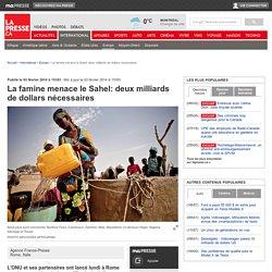 La famine menace le Sahel: deux milliards de dollars nécessaires