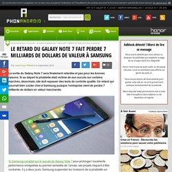 Le retard du Galaxy Note 7 fait perdre 7 milliards de dollars de valeur à Samsung