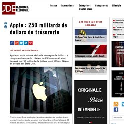 Apple : 250 milliards de dollars de trésorerie