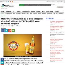 Un pays musulman où la bière a rapporté plus de 47 milliards de F CFA en 2015 à une entreprise française