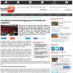 34 milliards d'euros de budget pour le ministère du Logement - 02/01/17