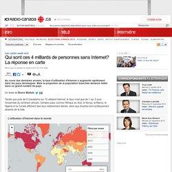 Qui sont ces 4 milliards de personnes sans Internet? La réponse en carte