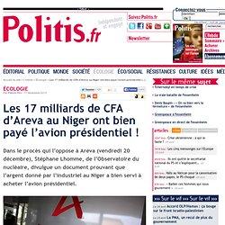 Les 17 milliards de CFA d'Areva au Niger ont bien payé l'avion présidentiel !