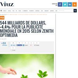 544 milliards de dollars, +4,4% pour la publicité mondiale en 2015 selon Zenith Optimedia
