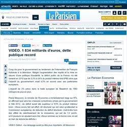 Dette publique record en France : elle frôle les 1 834 milliards d'euros