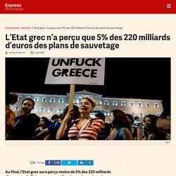 L'Etat grec n'a perçu que 5% des 220 milliards d'euros des plans de sauvetage - Express [FR]
