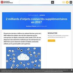 2 milliards d'objets connectés supplémentaires en 2017