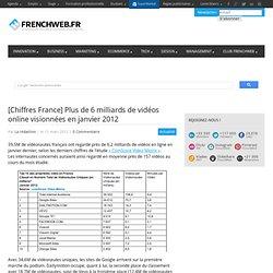 [Chiffres France] Plus de 6 milliards de vidéos online visionnées en janvier 2012